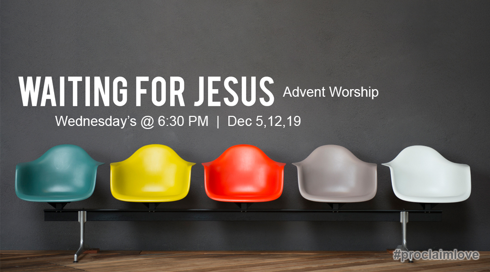 Advent Worship, Wednesdays at 6:30 am and pm, December 5, 12, 19